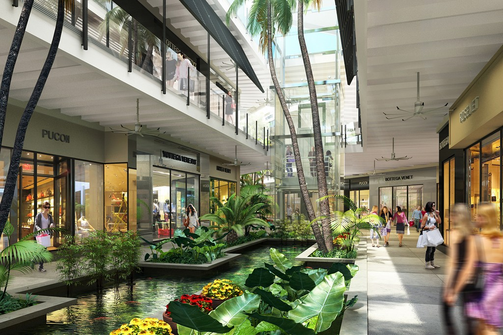 A rendering of the expansion at Bal Harbour Shops.