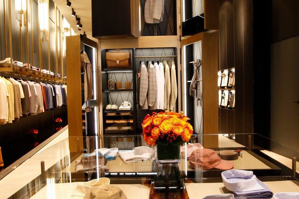 A view of the Brioni store on Rodeo Drive in Beverly Hills.