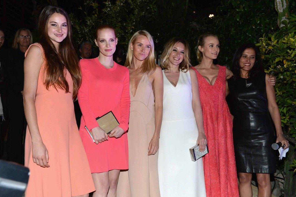 Shailene Woodley, Jessica Chastain, Naomi Watts, Ludivine Sagnier and Diane Kruger, all in Calvin Klein Collection with Joana Vicente.
