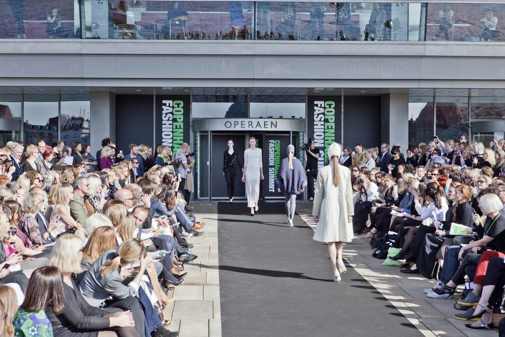 A view of the fashion show at the Copenhagen summit.
