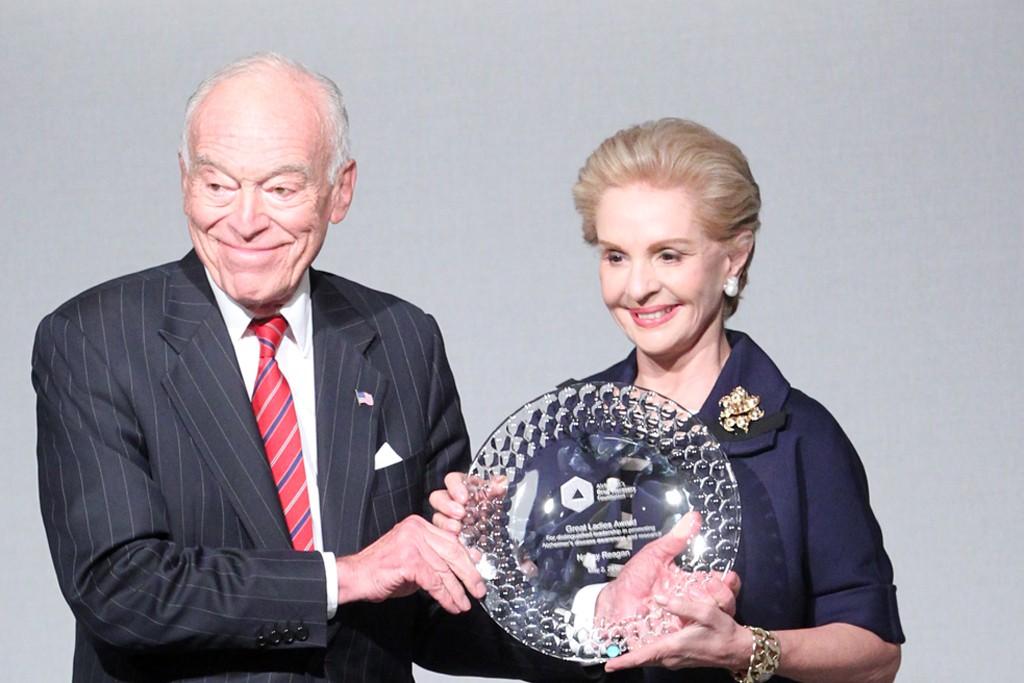 Leonard Lauder and Carolina Herrera
