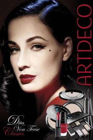 Artdeco's Dita Von Teese Classics cosmetics line.