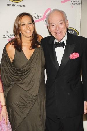 Donna Karan and Leonard Lauder