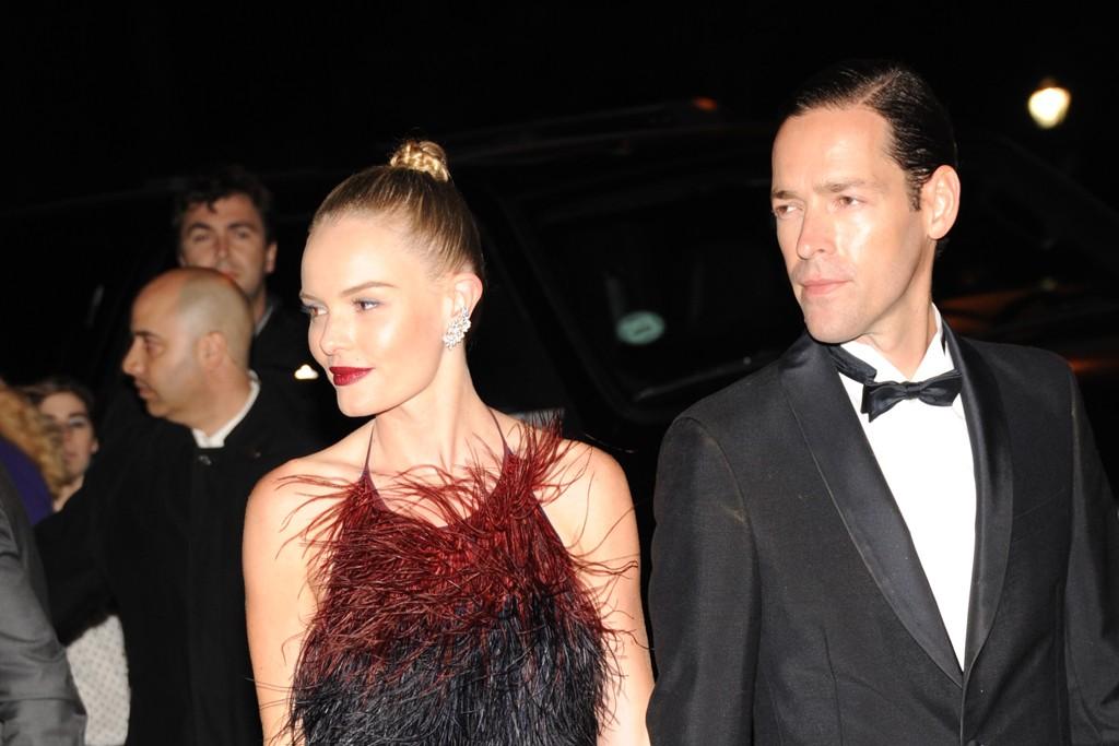 Kate Bosworth in Prada with Michael Polish.
