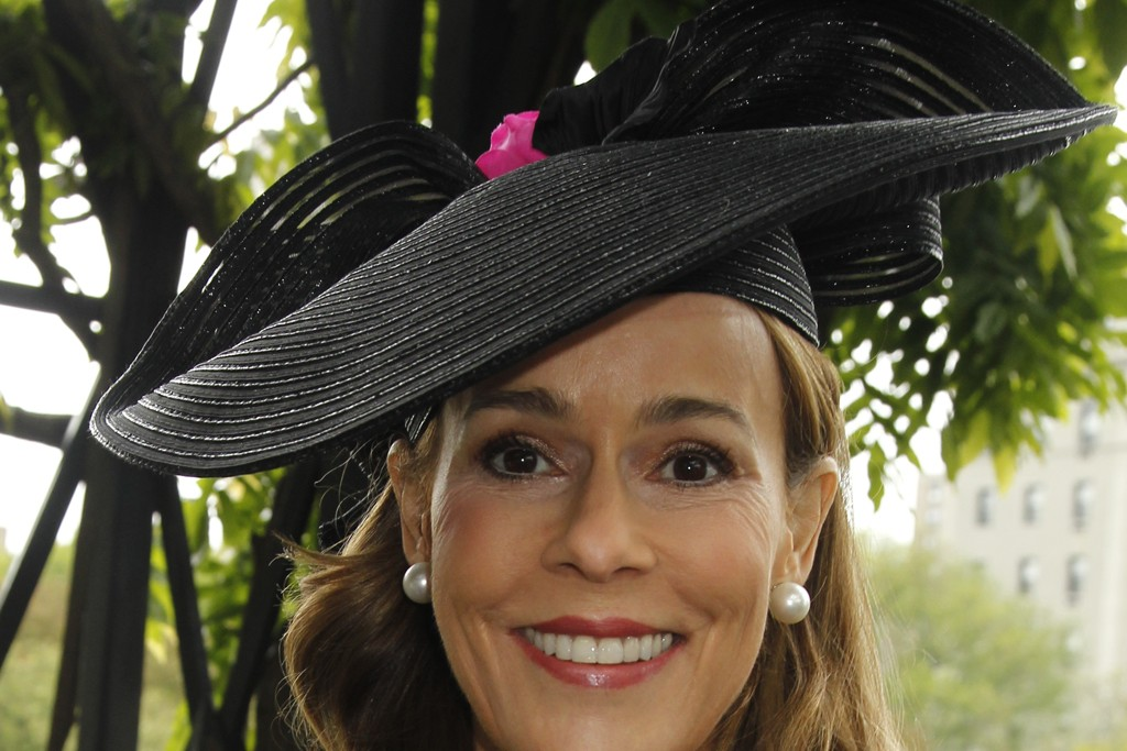 """Julia Koch at Central Park's Frederick Law Olmsted Awards, aka the """"hat luncheon."""""""