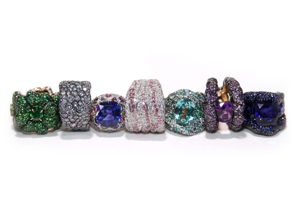 Fabergé rings.