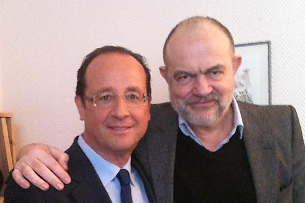 François Hollande and Christian Lacroix