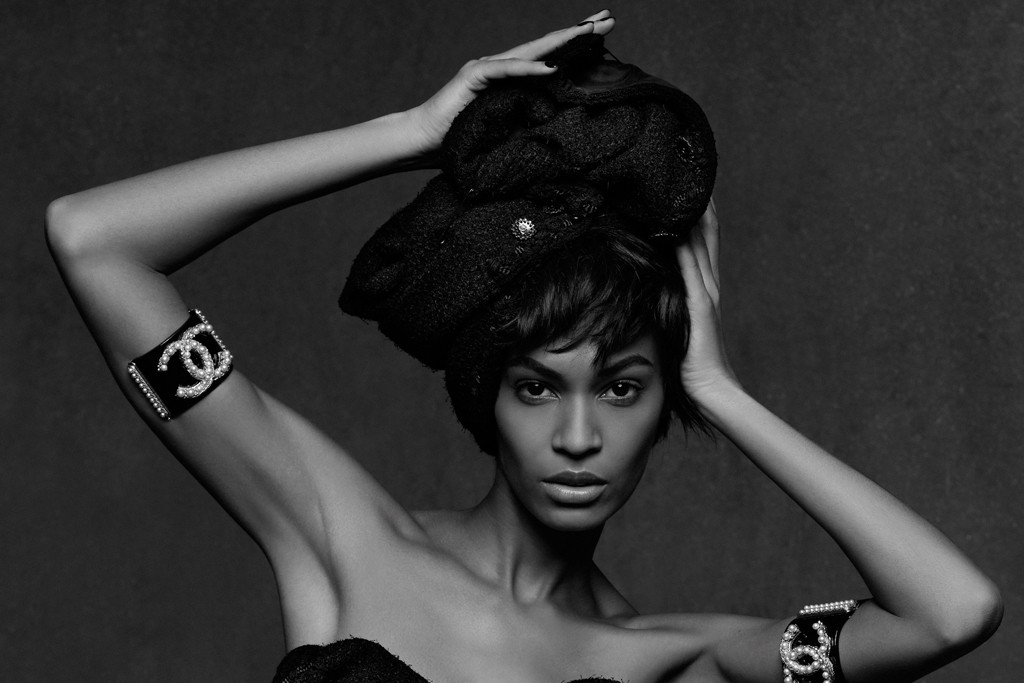 Joan Smalls photographed by Karl Lagerfeld.