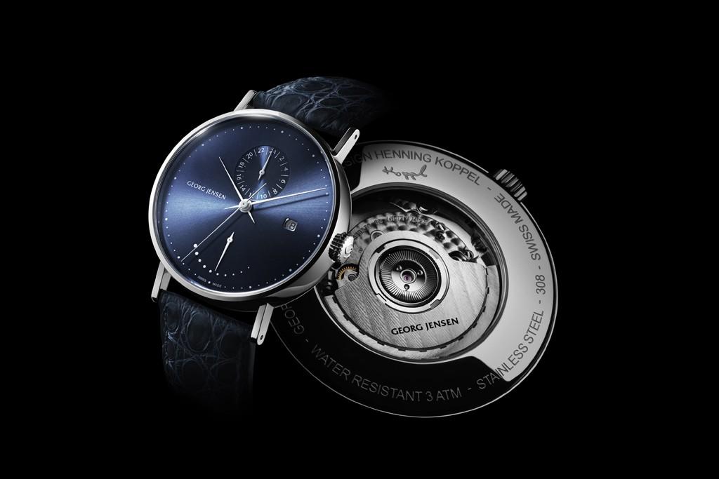 Georg Jensen's limited edition Koppel watch in midnight blue.