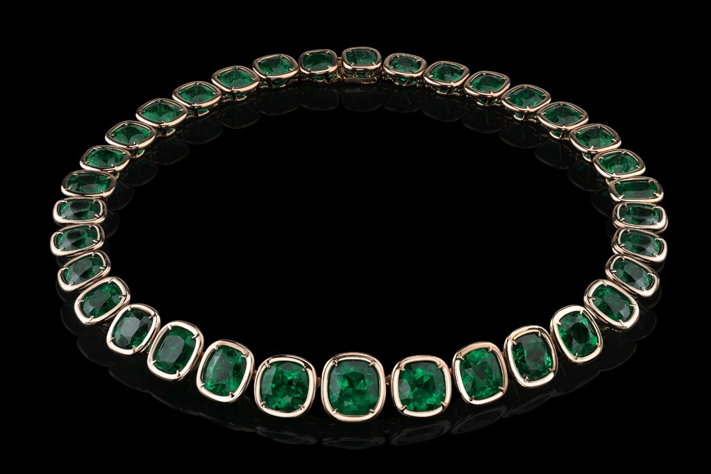 The Angelina Jolie Exceptional Emerald Necklace.