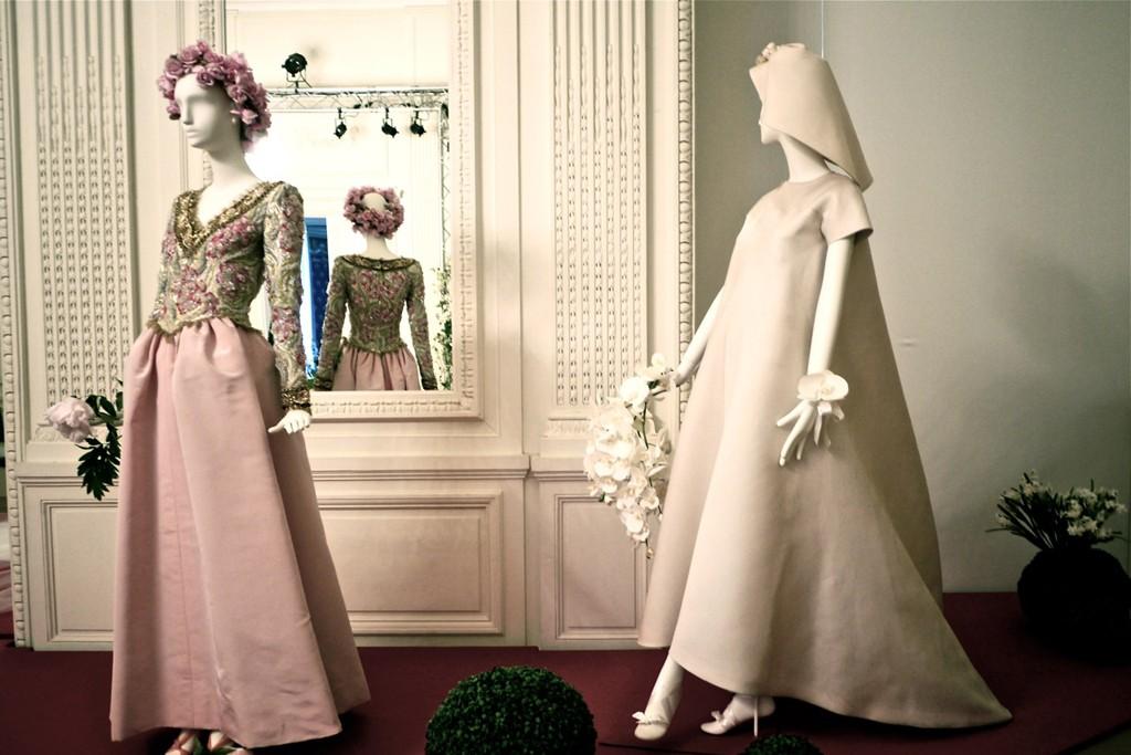 Wedding dresses by Hubert de Givenchy and Cristóbal Balenciaga.