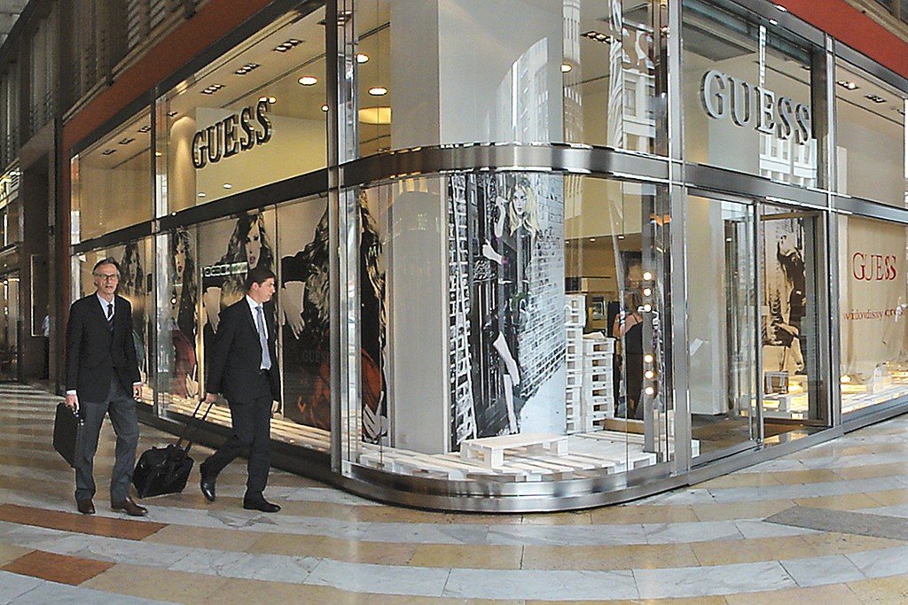 The Guess store in Milan.