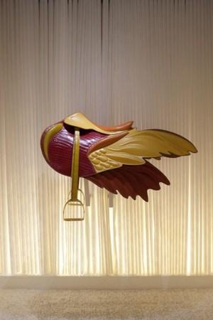 The Hermes winged saddle.