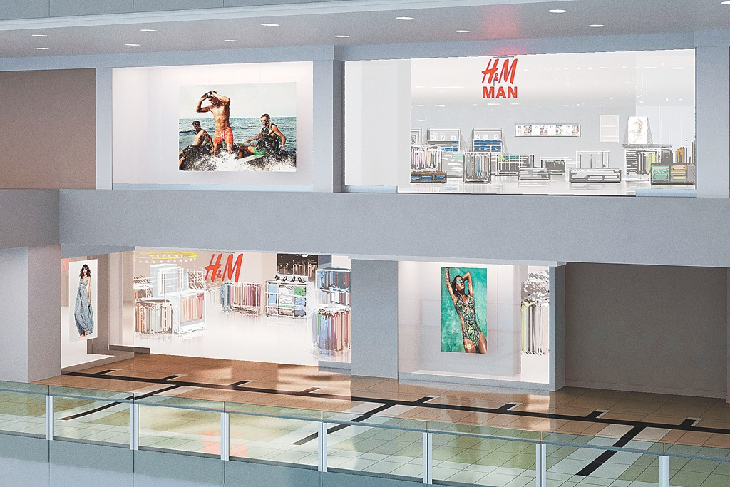 A rendering of the H&M store at the Shops at Columbus Circle.