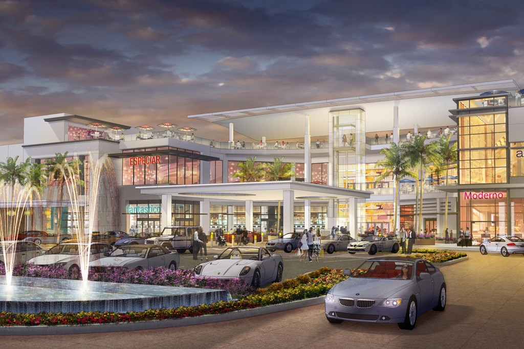 A rendering of Taubman's planned mall in Puerto Rico.