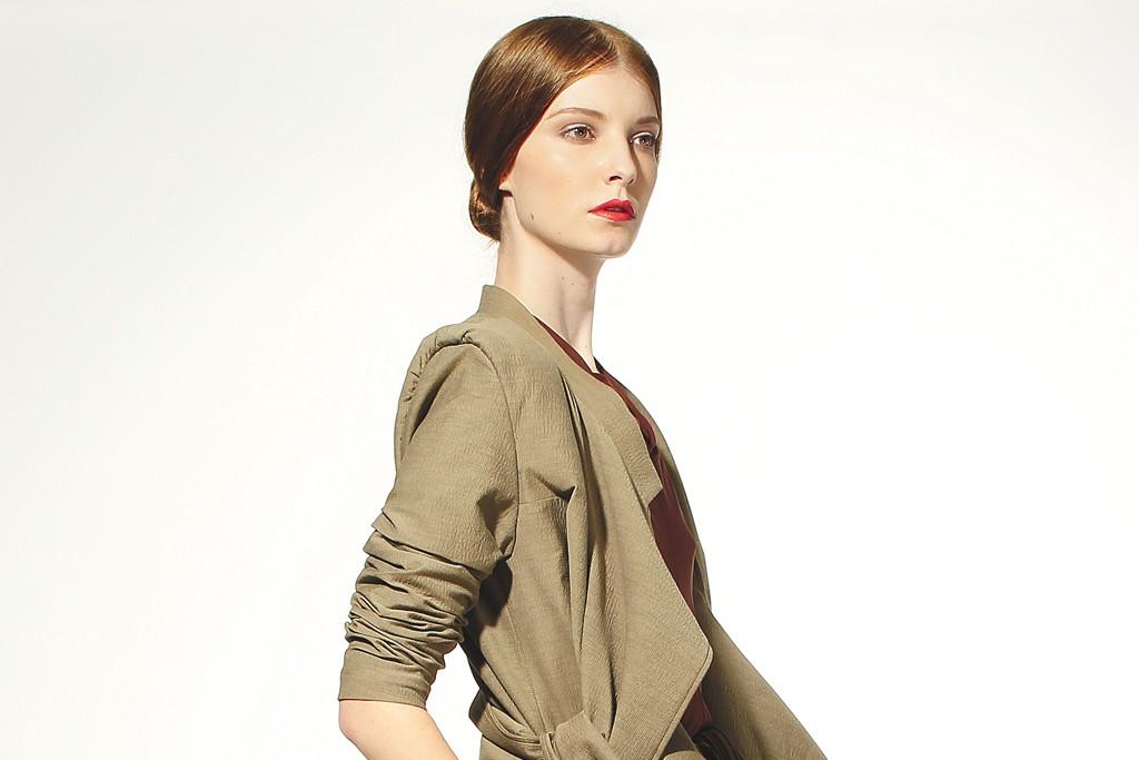 Jenny Lai's rayon jacket and skirt.
