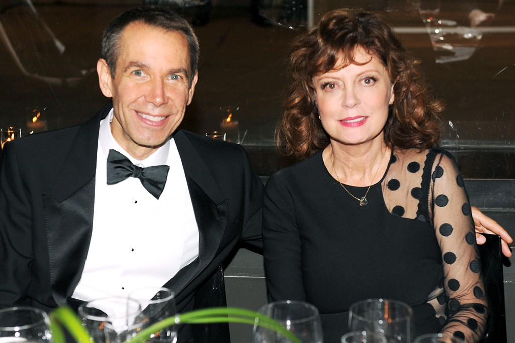 Jeff Koons and Susan Sarandon