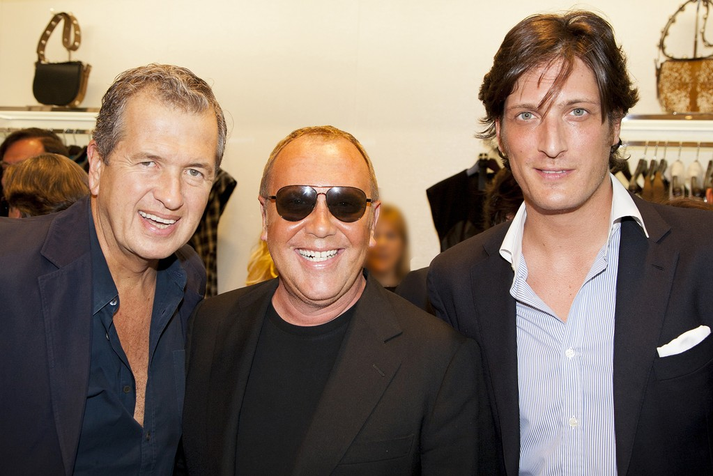 Mario Testino, Michael Kors and Luis Medina.