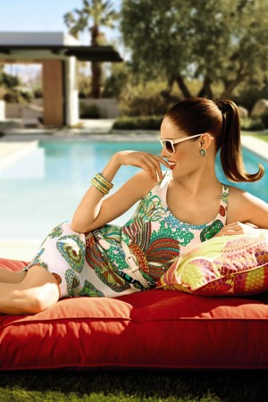 Coco Rocha in an ad for the Banana Republic Trina Turk collection.