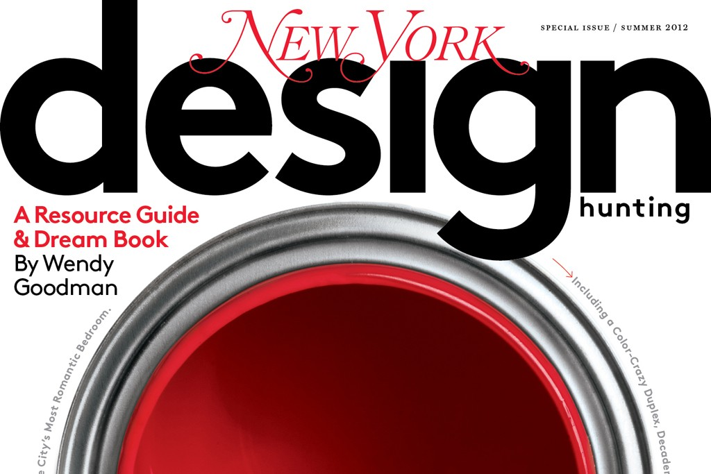 The red cover of New York Design Hunting.