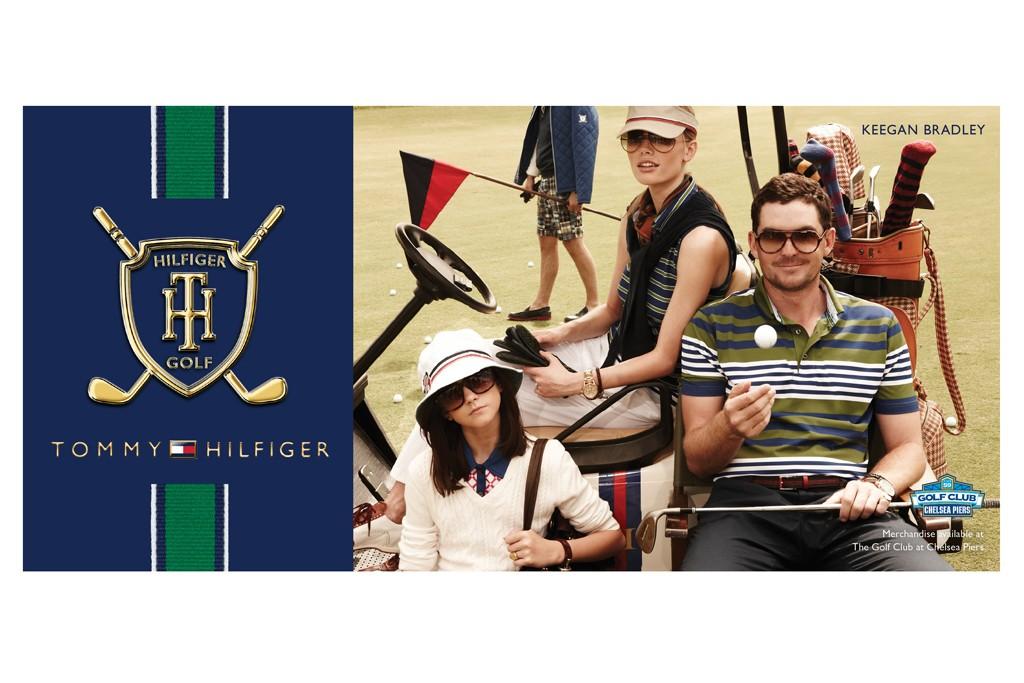 A Fall Tommy Golf billboard.