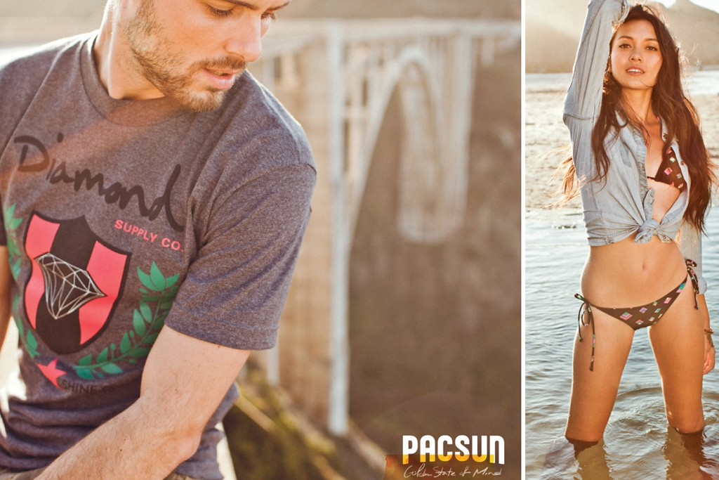 "Visuals from PacSun's ""Golden State of Mind"" campaign."