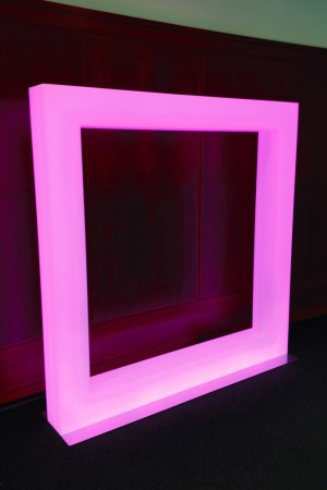 """A look at the Hudson + Broad's Large LED Square Created For J.C. Penney's """"Fair and Square."""""""