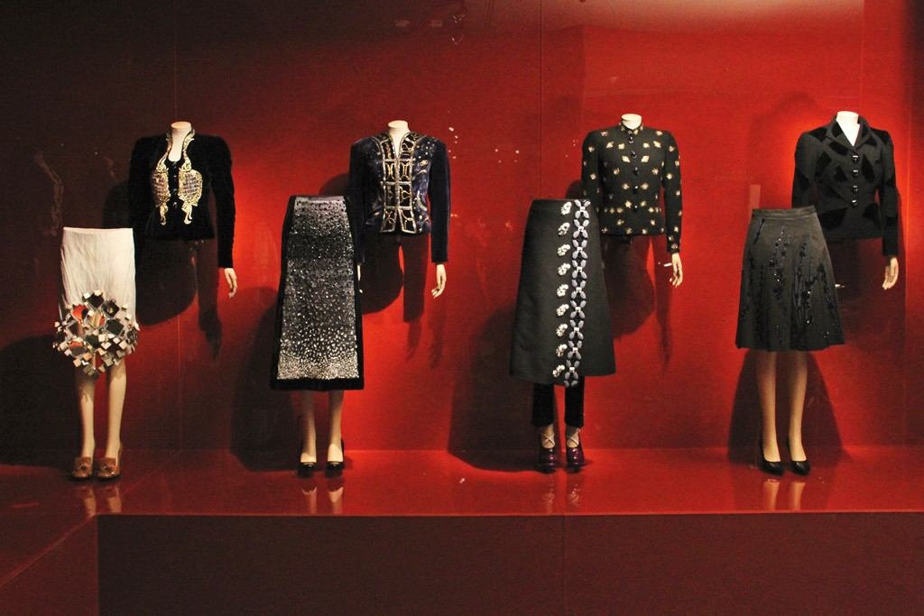 """A view at the """"Schiaparelli and Prada: Impossible Conversations"""" exhibition."""