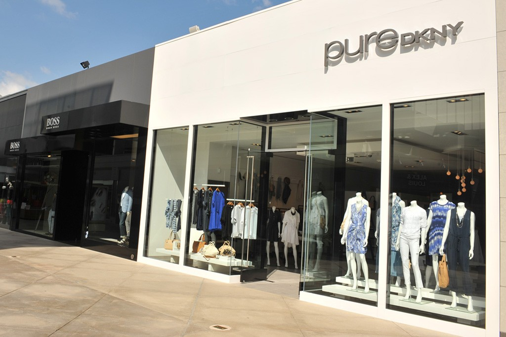 A view of the PureDKNY store at the Westfield Century City shopping center in Los Angeles.