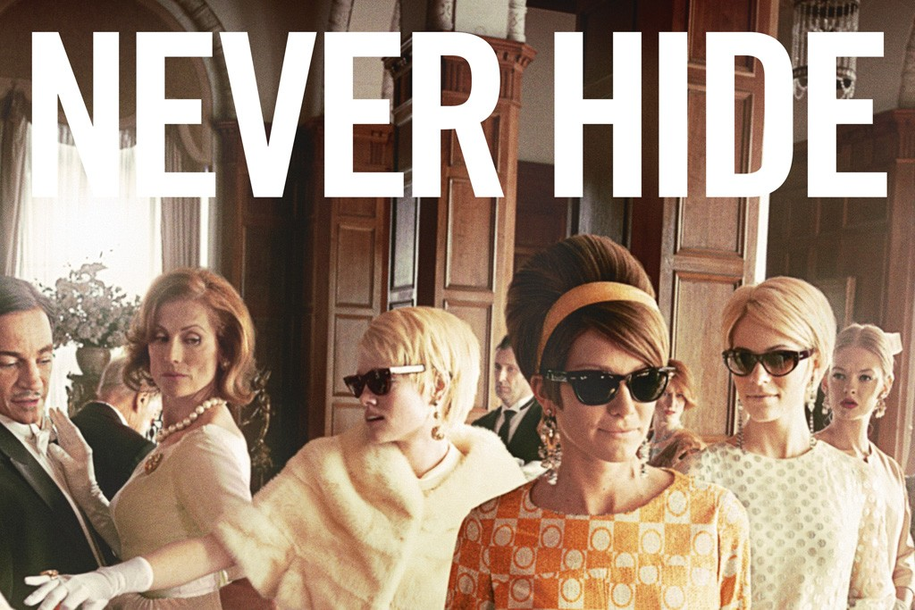 """""""Never Hide"""" ad campaign of English Socialites in Ray-Bans."""