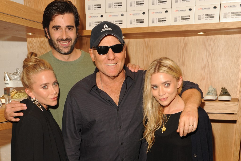 Mary-Kate Olsen, Lorenzo Boglioni, Steve Madden and Ashley Olsen