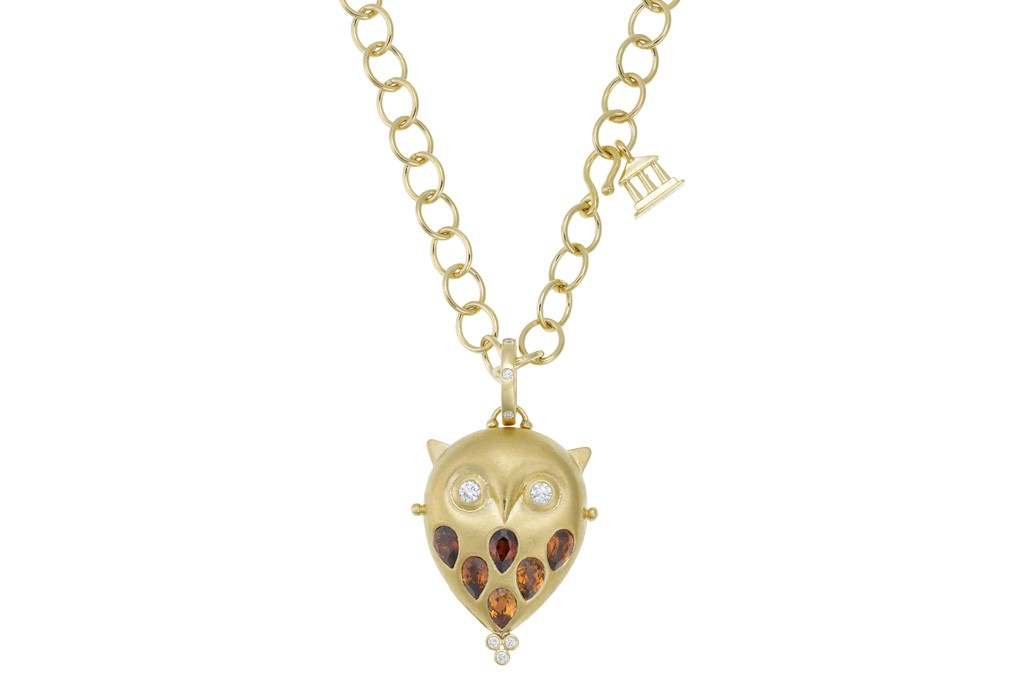 A necklace from Temple St. Clair's Owl Collection.