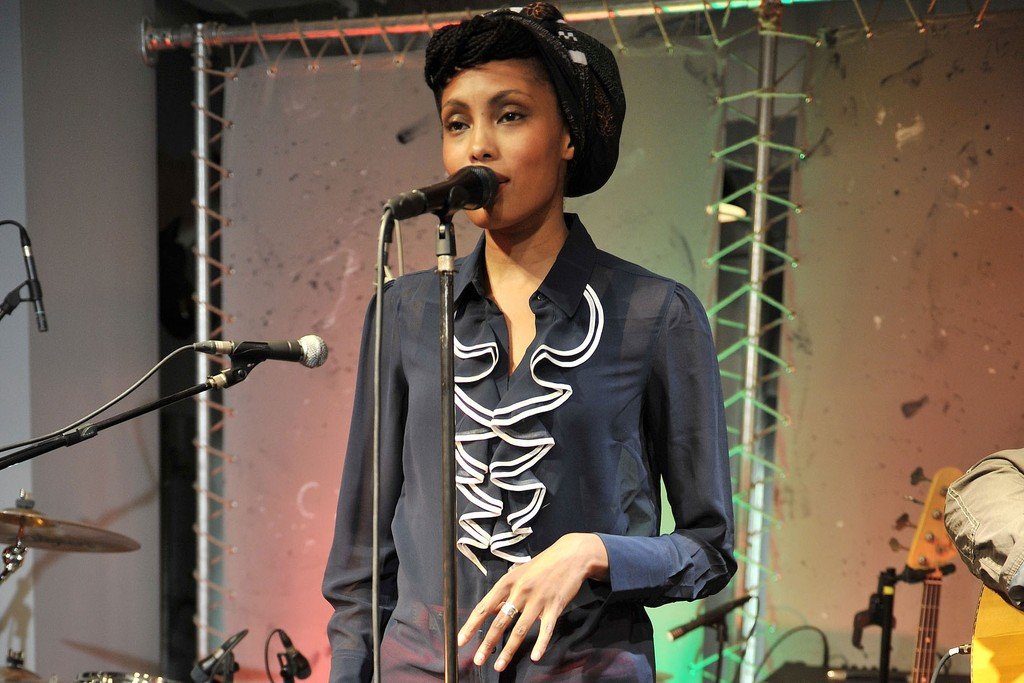 "Imany at the Paris launch of the ""The Promise Collection."""