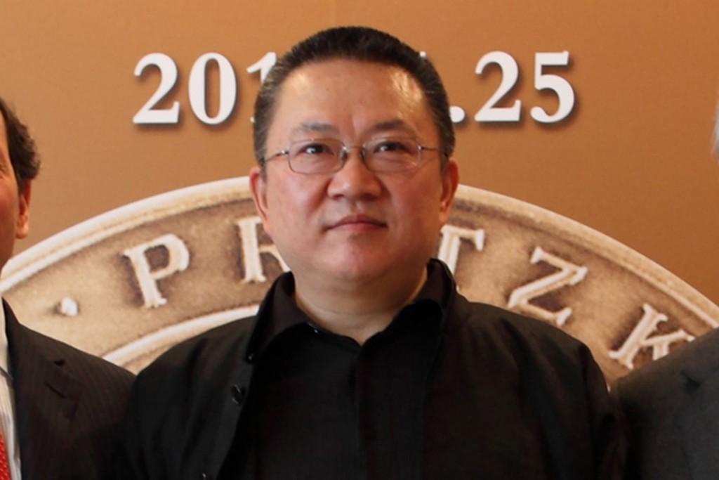 Wang Shu accepting the Pritzker Prize in Beijing.