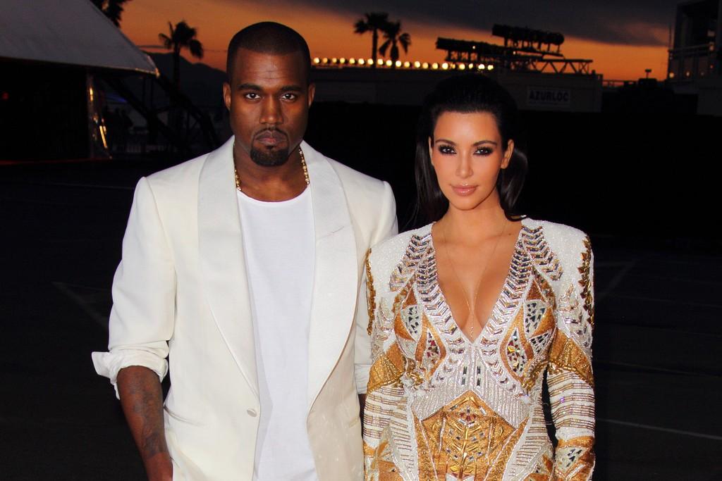 Kanye West and Kim Kardashian in Cannes.