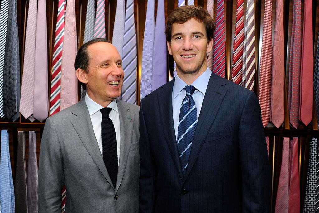 Gildo Zegna and Eli Manning