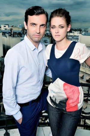 Nicolas Ghesquière and Kristen Stewart