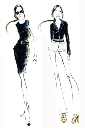 Doncaster's illustrations for NBC's female Olympic hosts.