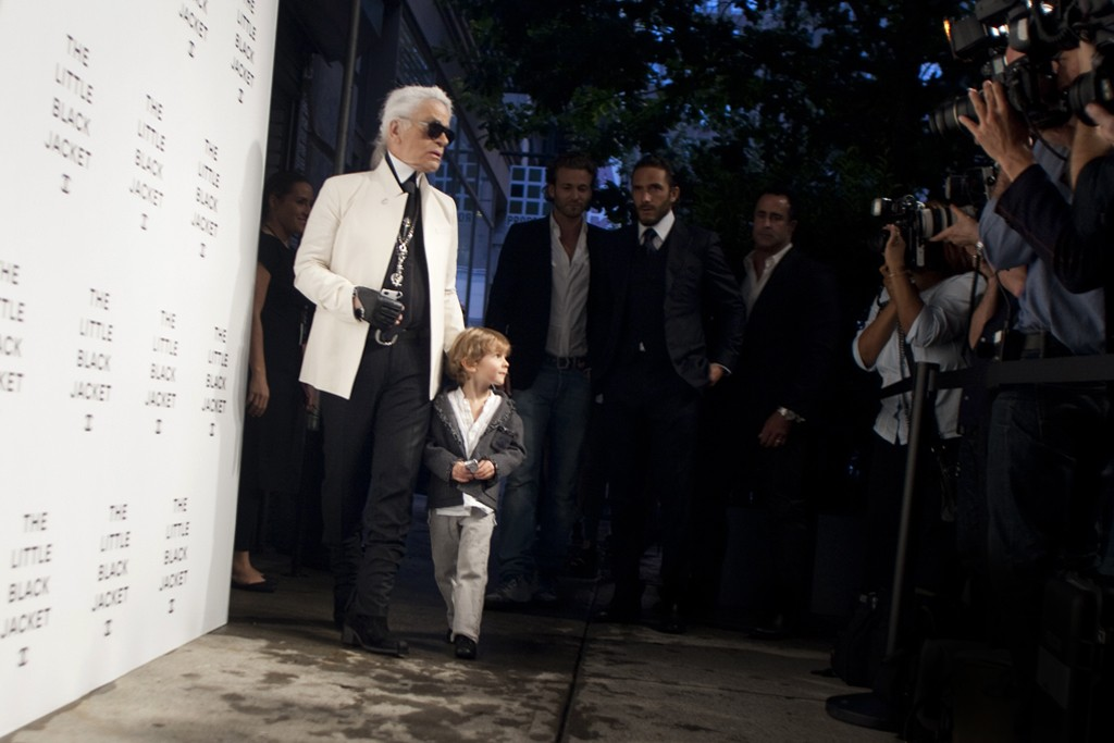 Karl Lagerfeld and Hudson Kroenig