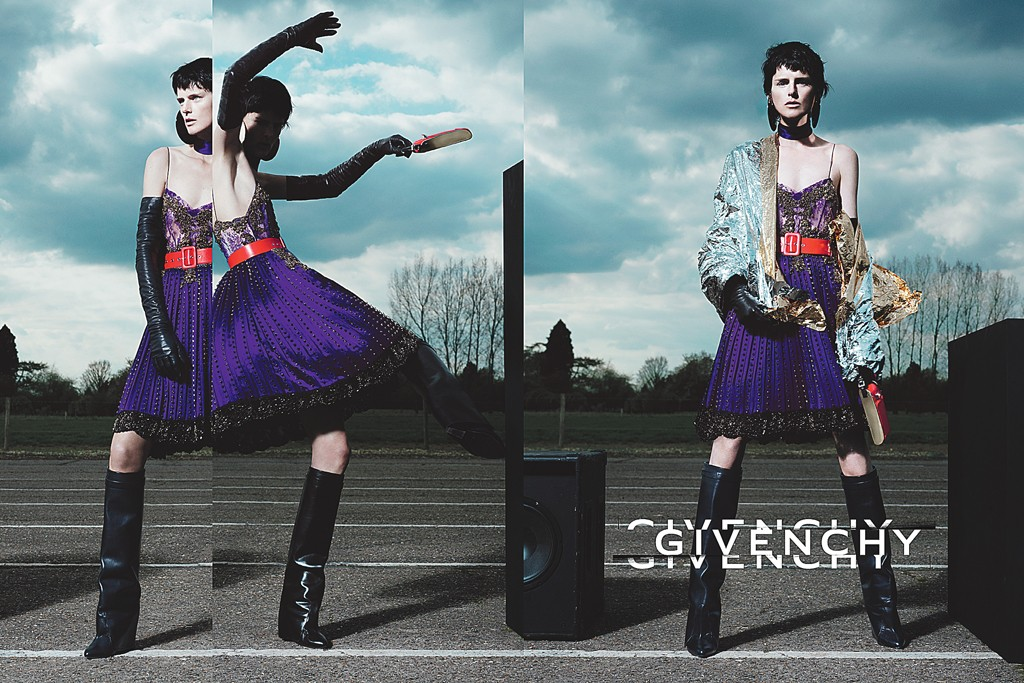 Stella Tennant in the fall Givenchy campaign.