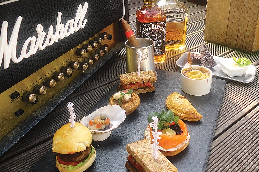 The British tea tradition is getting a macho makeover with the introduction of the gentlemen's afternoon tea around London. Sanctum Soho Hotel started the trend with mini-cheeseburgers, Jack Daniels and a cigar.