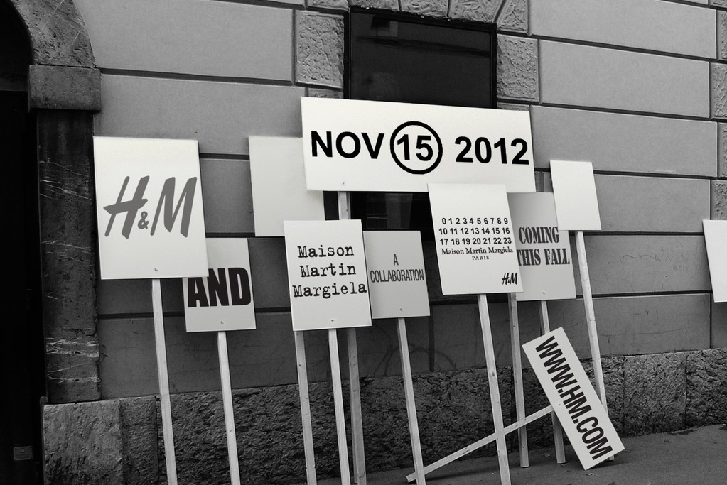 An image announcing H&M's collaboration with Maison Martin Margiela.