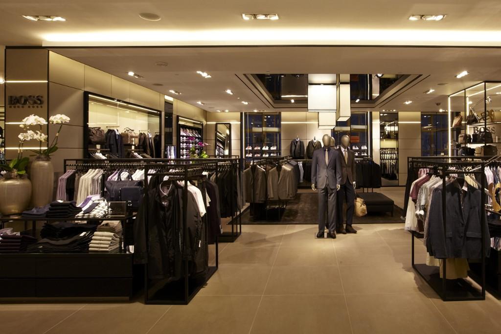 A view of the Hugo Boss Men's Shop on Saks' seventh floor.