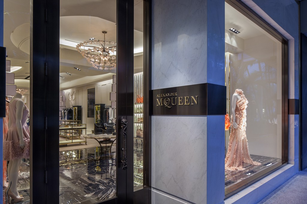 A view of the Alexander McQueen store.
