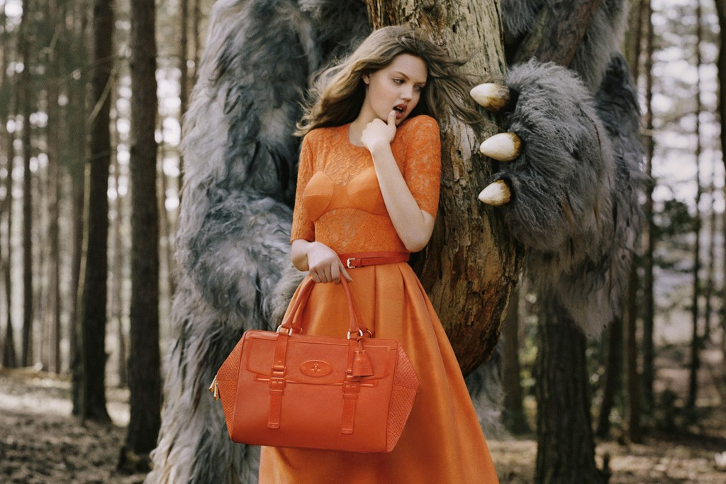 An image from Mulberry's fall ad campaign.