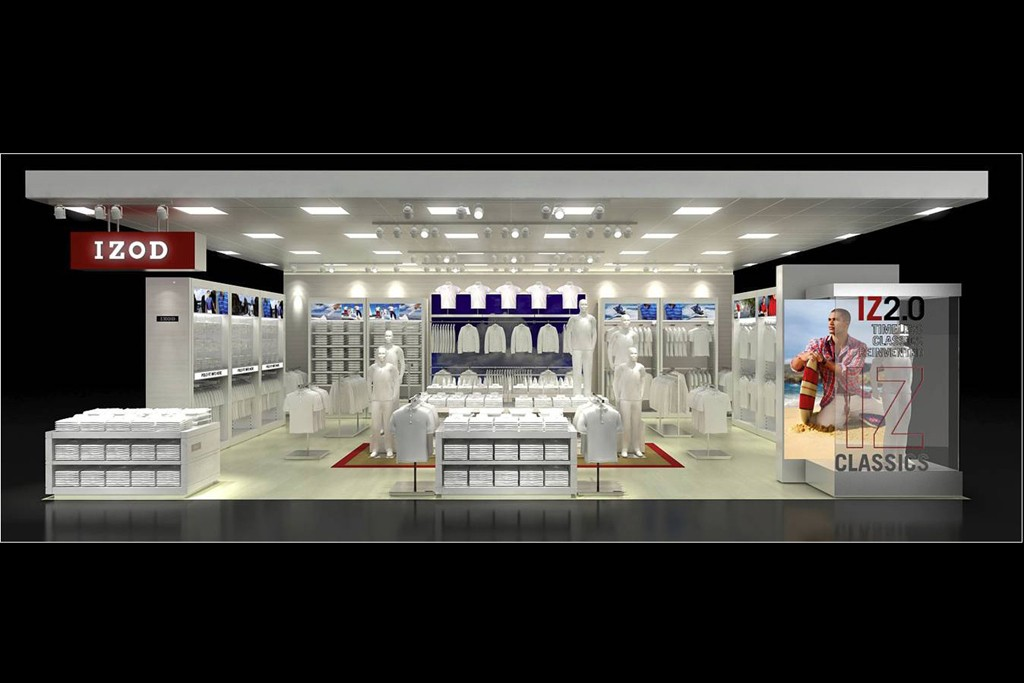 A rendering of the Izod shop at J.C. Penney.