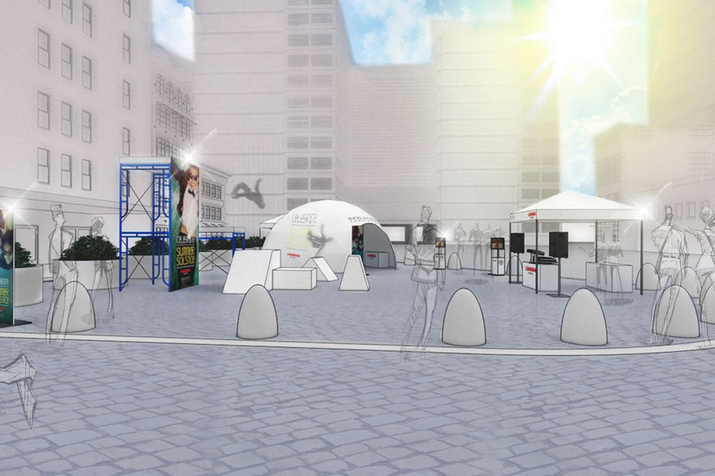 A rendering of Solstice's 10th anniversary party area.