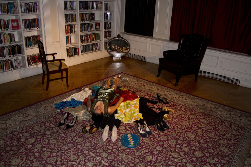 """Esther McGowan acts out a scene from Dawn Raffel's """"The Secret Life of Objects."""""""