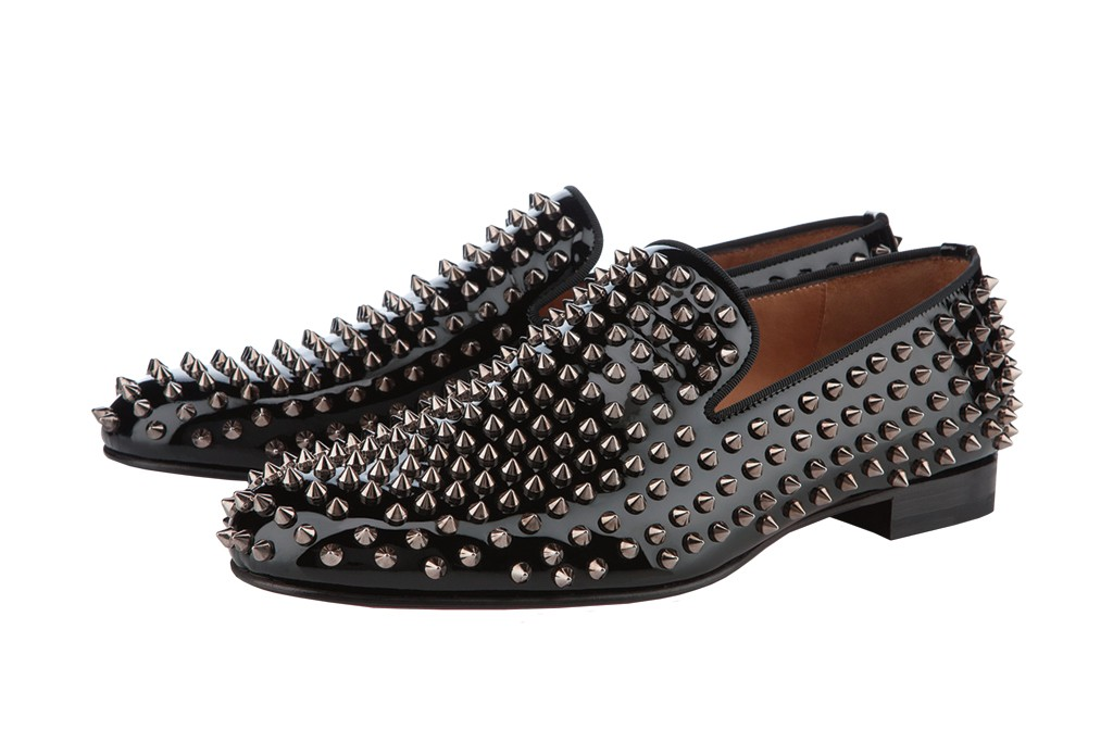 Studded slip-ons by Christian Louboutin.