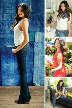 Shay Mitchell appears in American Eagle Outfitters fall ad campaign.